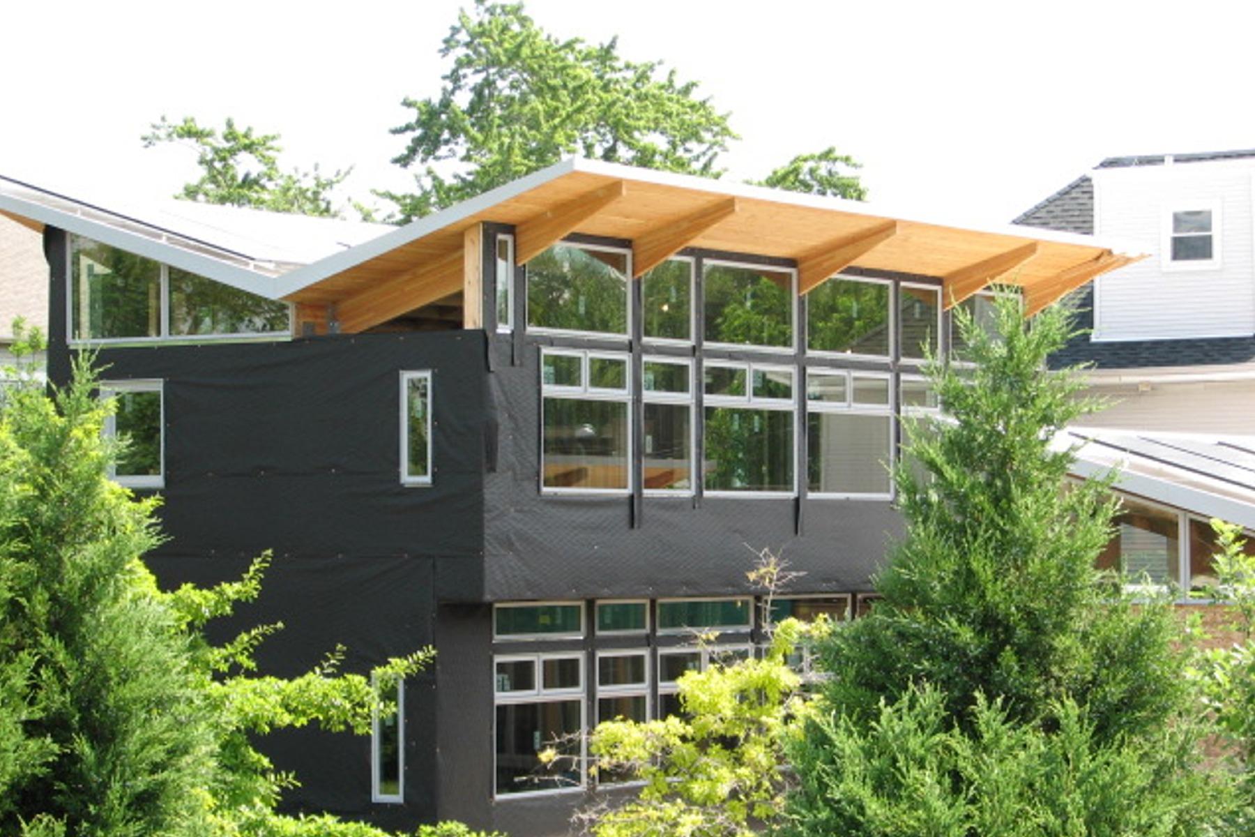 Construyendo una casa libre de la red de suministro de energía